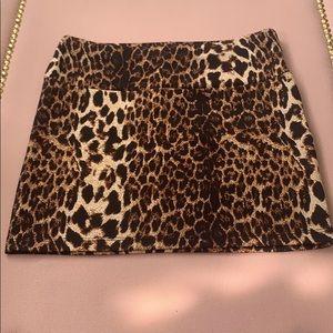 Forever 21 Leopard Mini Skirt 🌶